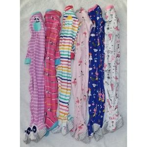 CARTERS Lot of 6 Footed Pajamas 24M